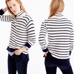 J. Crew   Relaxed Ribbed Wool Turtleneck Sweater